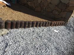 troncos de hormigón para jardinera