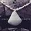 Thumbnail: Blue-Gray Agate Pendant Necklace