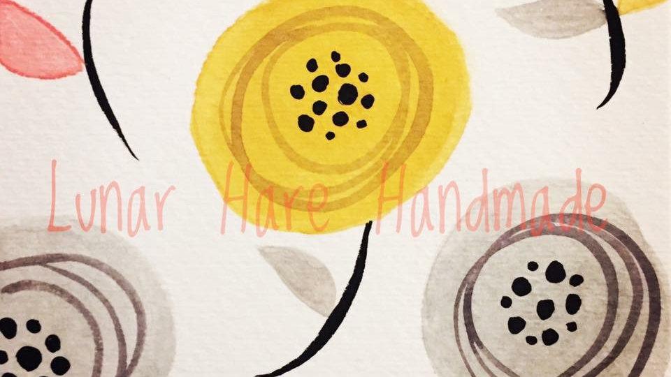 Cute Flowers Greeting Card Set