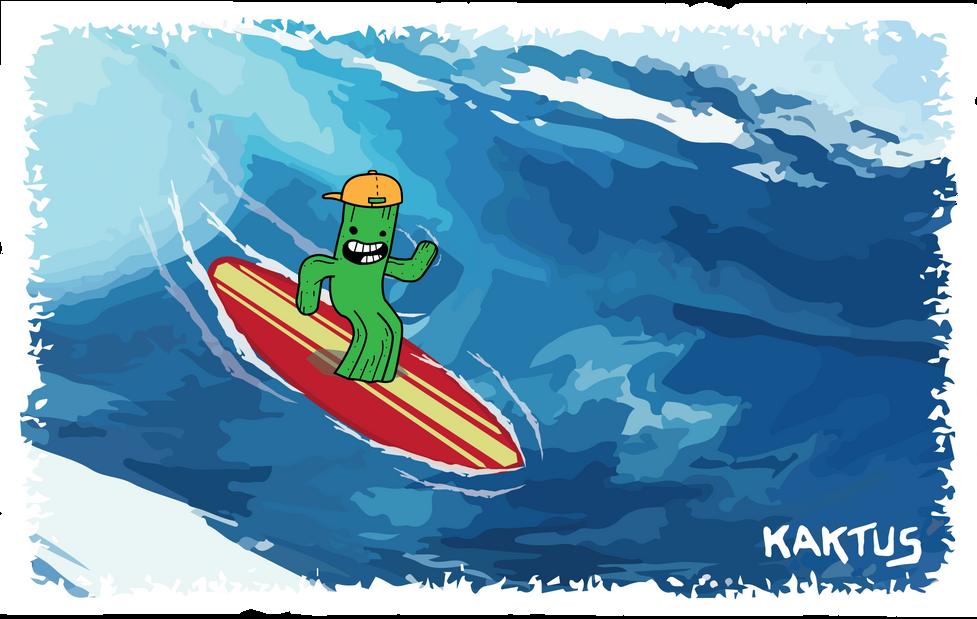 Designray Kaktus surfboards illustration