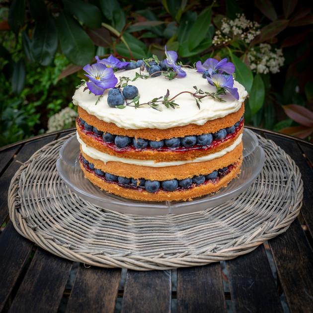 Kates Kakes Blueberry Victoria Sandwich Cake