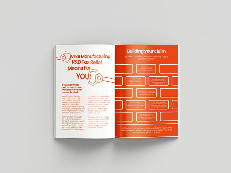 taxshop booklet design