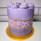 kates kakes purple faultline cake