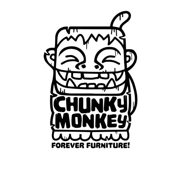 chunky monkey black and white