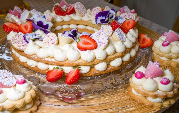 Kates Kakes Strawberries and Cream French Tart