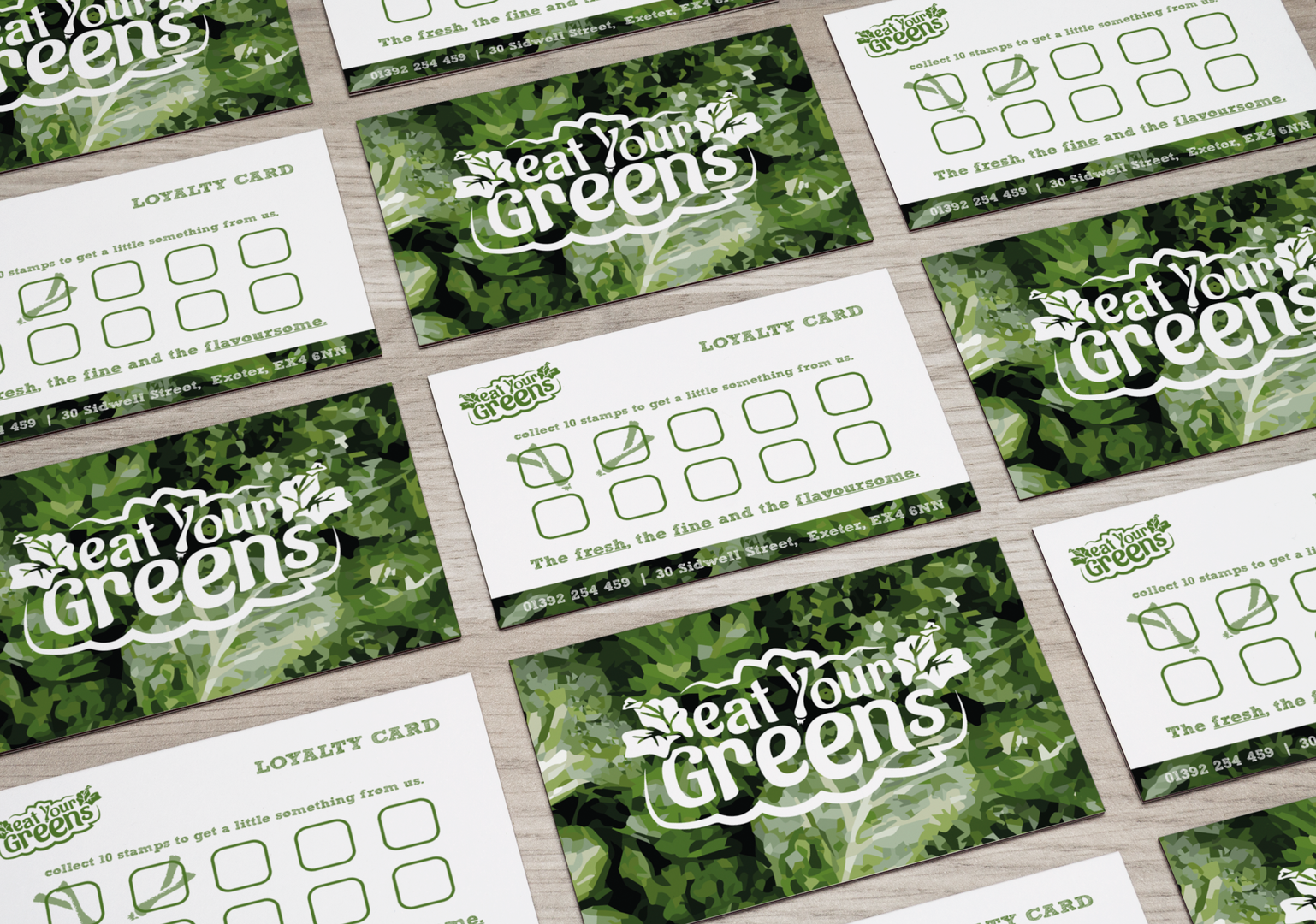 eat your greens loyalty cards
