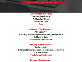 January Class Schedule