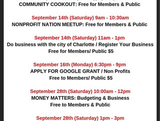 September Classes and Events