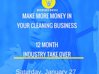 Class: 12 MONTH INDUSTRY TAKE OVER  (The Cleaning Business) Charlotte NC