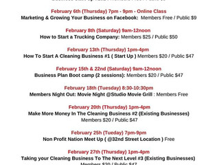 February Class Calendar