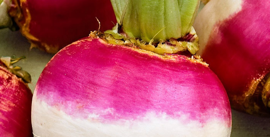 Purple White Top Globe Turnip, 50 seeds