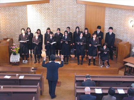 母の日礼拝 ― 近江兄弟社高校合唱部を迎えて ―