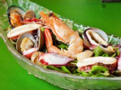 新鮮な魚介類のマリネ地中海風―要解凍の冷凍商品です—(税・送料別)