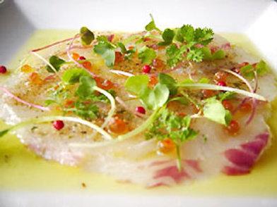 鮮魚のカルパッチョ―要解凍の冷凍商品です—(税・送料別)