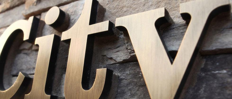 Rustic Imitation marble SUS letters galvanized metal letters