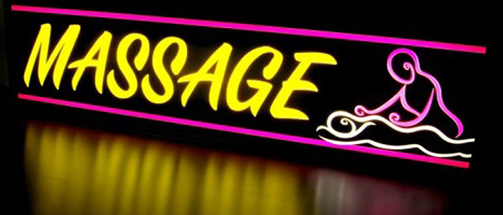 Full color Flexible neon signs letters massage store / storefront signs