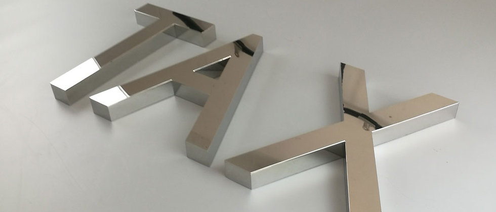 Fabricated Chrome metal letters Mirror stainless steel letter for outdoor indoor