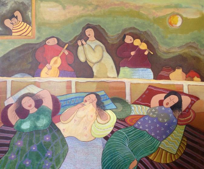 Entspannende Frauen