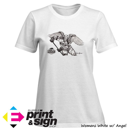 Womens White with Angel (Medium)