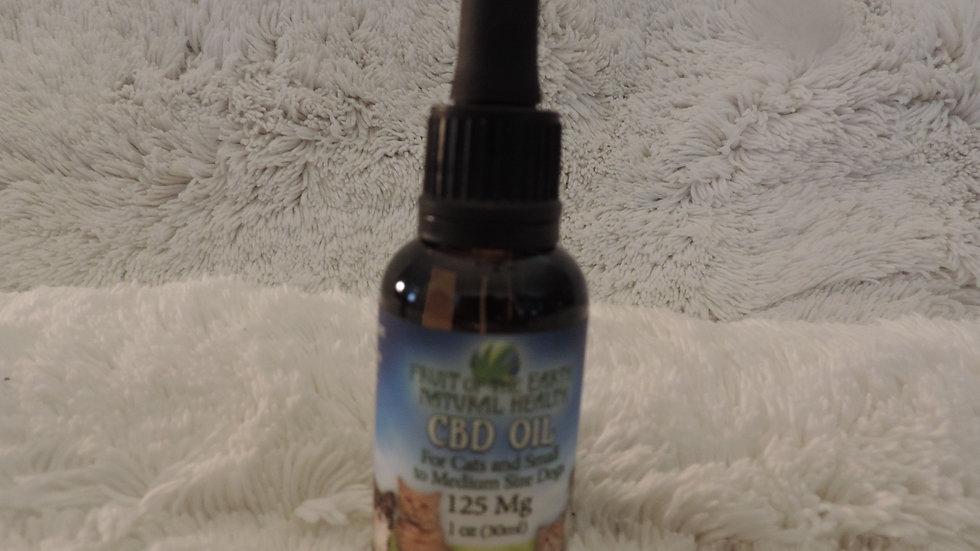 Pet CBD Oil 125 mg. (Small to Medium)