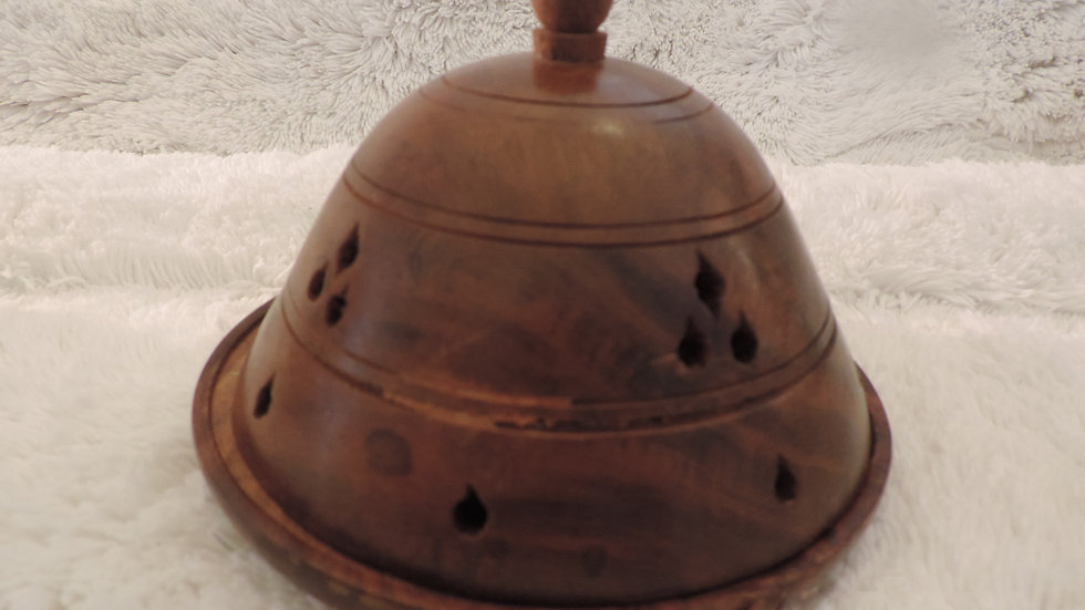 5633 Wooden Dome Cone Burner: Large