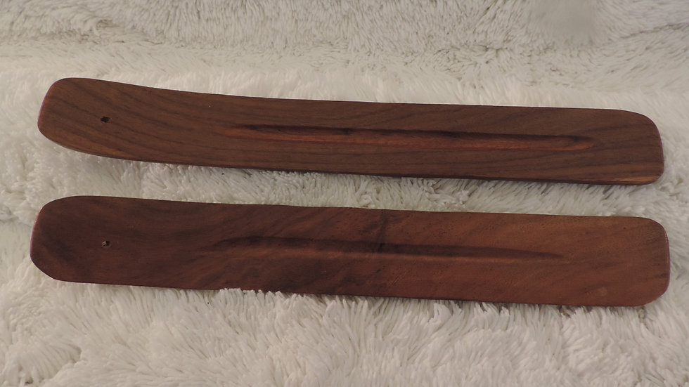 Plain Flat Wooden Incense Stick Burner