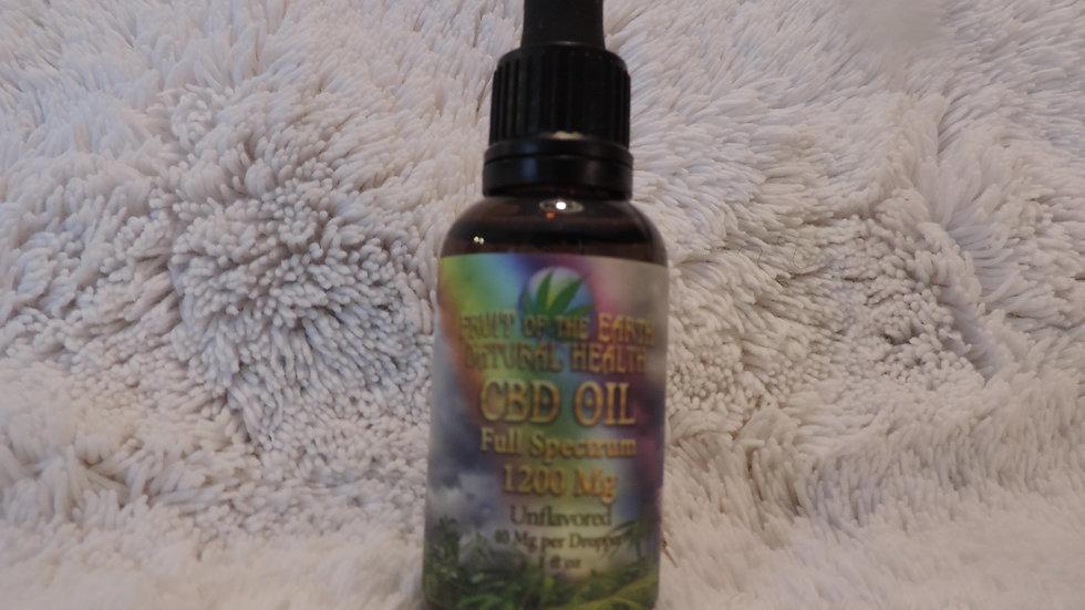 CBD Oil Full Spectrum 1200 mg.