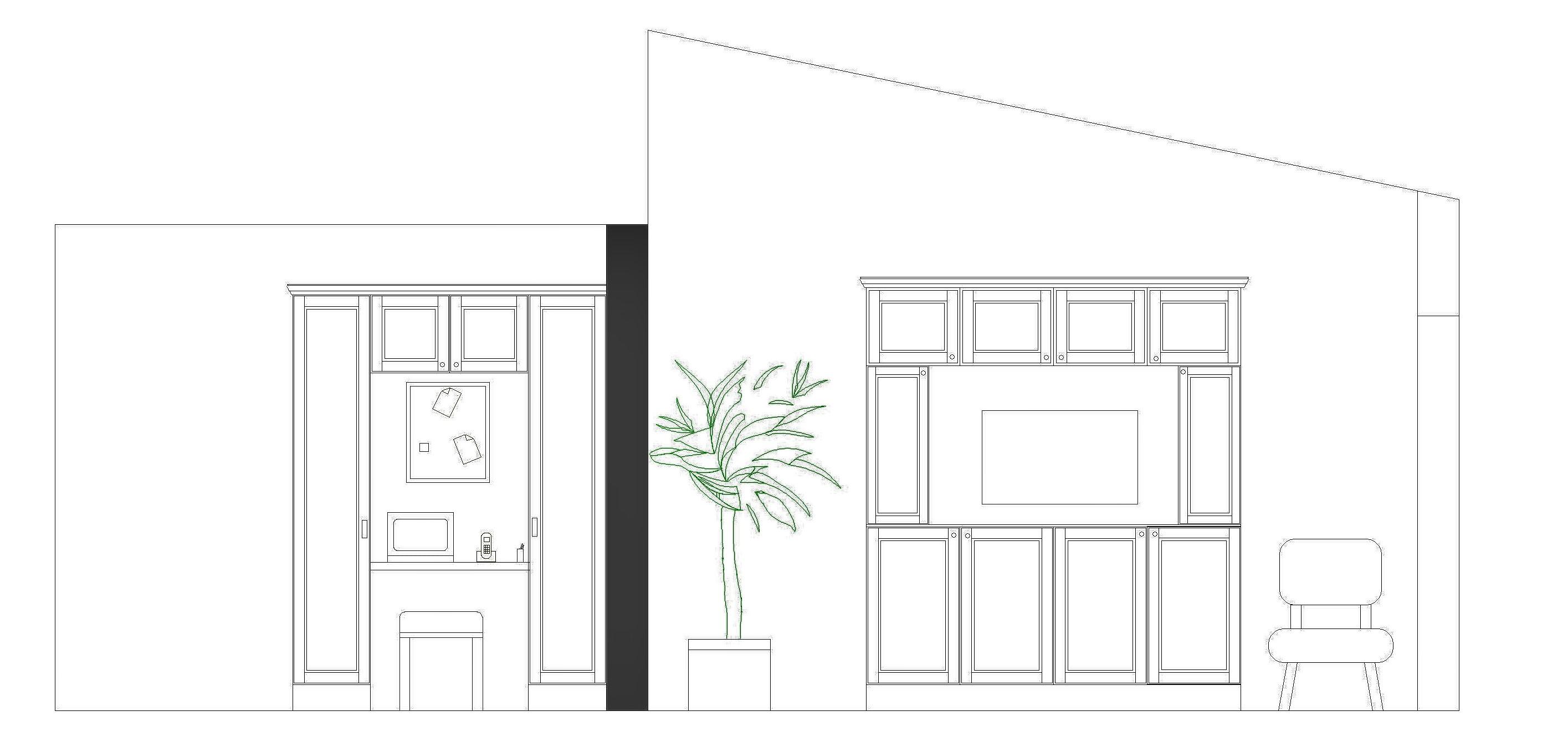 kitchen desk and storage unit