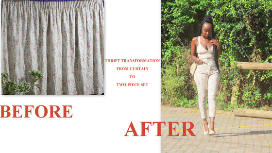 THRIFT TRANSFORMATION: PROJECT # 42: (TRANSFORMING A CURTAIN) | Aimies Closet