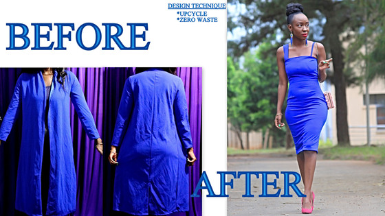 THRIFT TRANSFORMATION: PROJECT # 44: UPCYCLE-FROM COVER-UP TO PENCIL DRESS | Aimies Closet