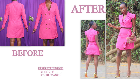 THRIFT TRANSFORMATION: PROJECT # 43: UPCYCLE-DRESS COAT TO TWO-PIECE | Aimies Closet