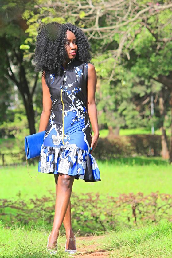 THRIFT TRANSFORMATION: PROJECT #3 (Blue Frill Dress)