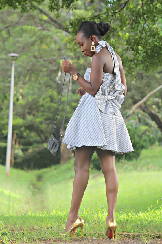THRIFT TRANSFORMATION PROJECT #36:- FROM BEDSHEET TO SKATER DRESS (BACK BOW)| Aimies Closet