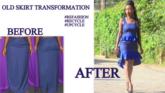 THRIFT TRANSFORMATION: PROJECT # 41: (TRANSFORMING AN OLD SKIRT) | Aimies Closet