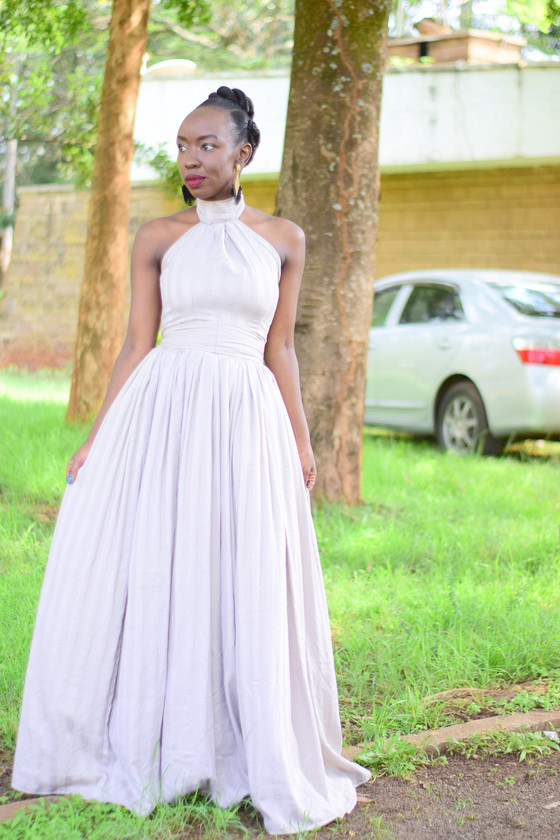 THRIFT TRANSFORMATION: PROJECT # 32: FROM BEDCOVER TO BRIDESMAID GOWN| Aimies Closet