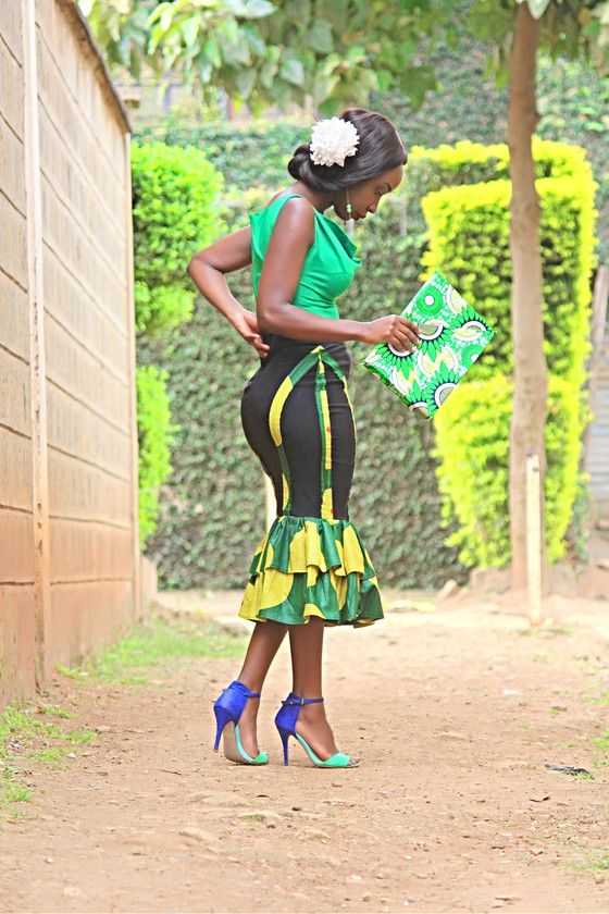 BLACK SKIRT TRANSFORMATION: PROJECT #12 Touch of Ankara