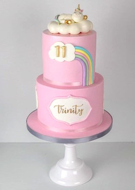 Aaannd_the_finished_#unicorn_cake!_😄_._