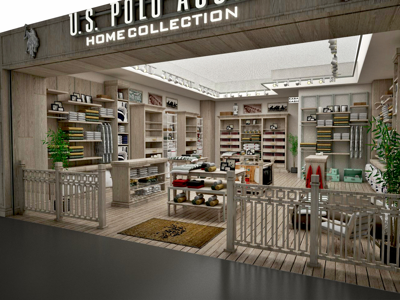 U.S. POLO ASSN.HOME COLLECTION NEW CONCEPT INTERIOR SCEEN