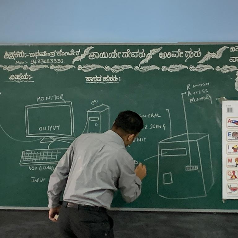 Computer Training @Kariyammana Agrahara Government School, Bangalore