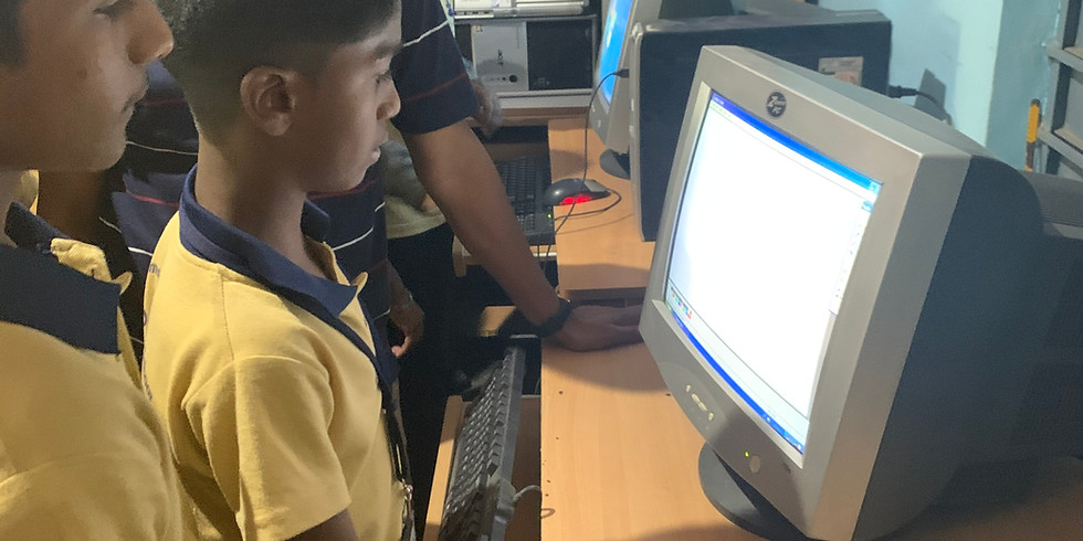 Computer Teaching @ Konena Agaraha Government School, Bangalore