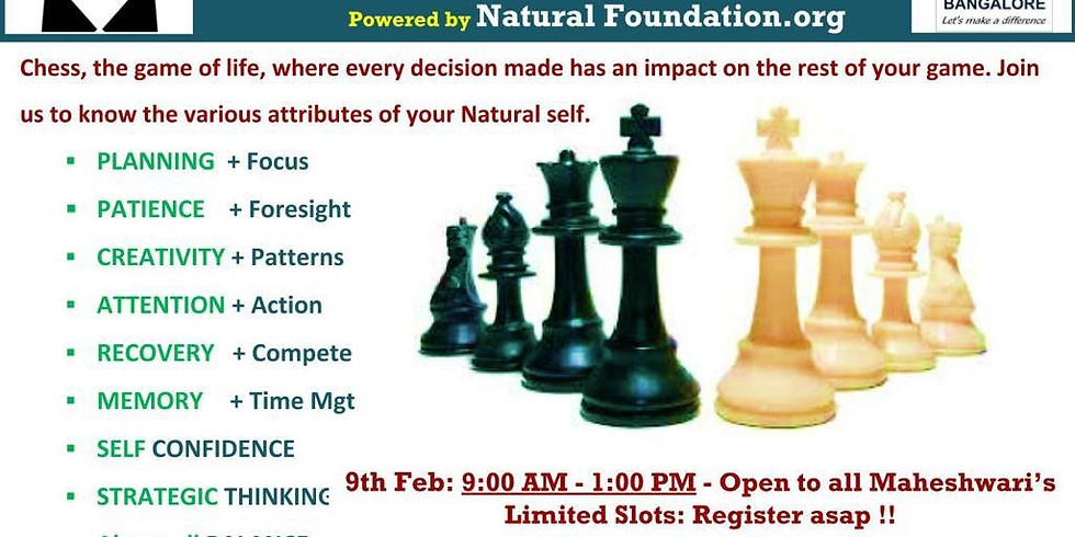 Natural Chess Workshop !!