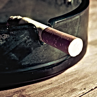 Ashtray photo for stopping smoking