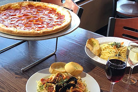 Pizza 2 Dishes Wine.JPG