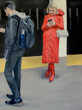 Woman In Red, 6 Platform, Canal St.