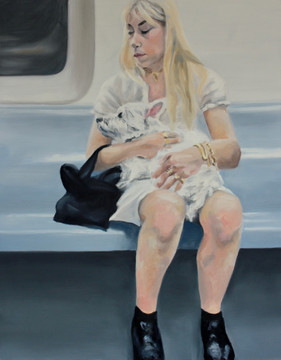 Woman With Dog, E Train, West Village