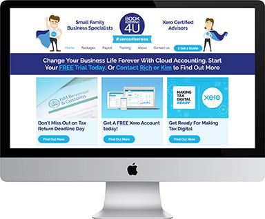 Responsive web design for Bookkeeping4u, Hereford