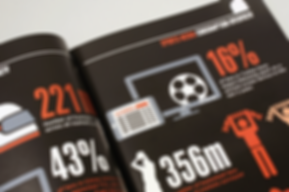 Annual report with Infographics for sports business agency in London