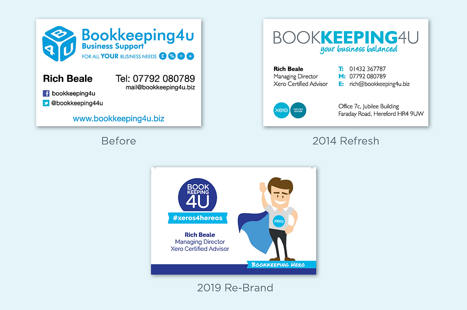 The Bookkeeping brand has evolved over a 5 year period
