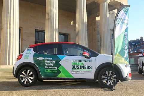 Eye catching signage for the Hereford Means Business Expo