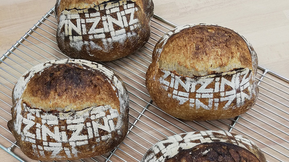 Nizi Artisan sourdough bread with the Nizi Wormark